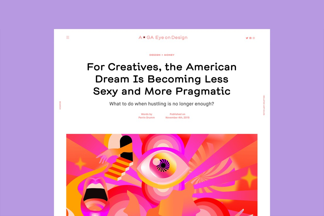 AIGA Eye On Design Website 2.0 image